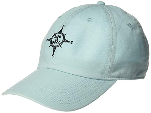 Life is Good Chill Cap Baseball Hat Collection,Compass,Beach Blue