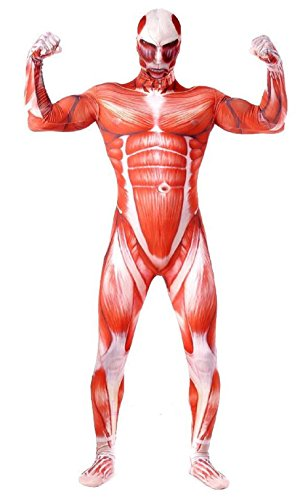 Attack on Titan Colossal Titan Style Costume Shingeki No Kyojin Halloween Costumes Muscle Man (Large) -
