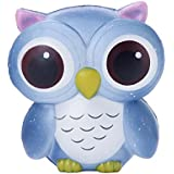 TEEGOMO Kwaii Gaint Blue Owl Slow Rising Scented Jumbo Squishy Stress Relief Squeeze Decorations Toy Gift Fun