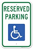 "Handicap Parking Sign - Federal 12""x18"" 3M Prismatic Engineer Grade Reflective Handicap Parking Sign Aluminum Green Blue on White"