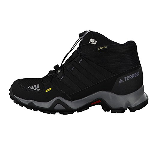 adidas Terrex Mid Gtx, Zapatos de Low Rise Senderismo Unisex Niños Negro (Core Black/core Black/vista Grey)