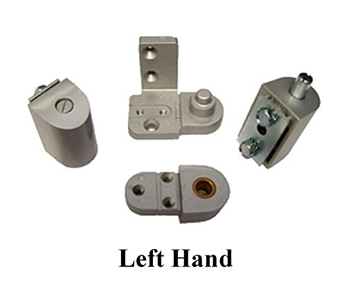 YKK Style Storefront Door Pivot Hinge Set in Aluminum - Choose Handing (Left Hand) ()