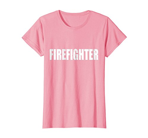 Womens Firefighter T Shirt Halloween Costume Funny Retro