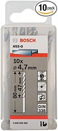 7mmx47mmx3.15In 10 Pcs Bosch 2608585489 Metal Drill Bit Hss-G 4