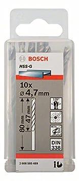 Bosch 2608585468 Foret /à m/étaux HSS-G standard DIN 338 /Ø 1,2 mm 10 pi/èces