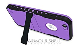 Armour Shell Waterproof Scratch Resistant Protective Case for iPhone 6 Plus - Purple
