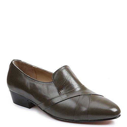 (Giorgio Brutini Men's Genuine Kidskin Loafers,Gray,9 W)