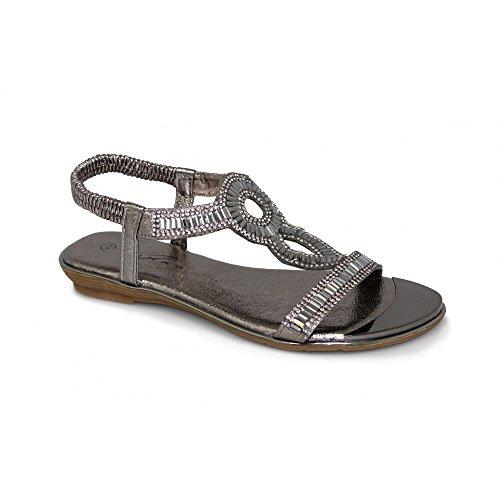 7 39 Samantha 6 Sandal 36 Lunar Gemstone Silber Grau 5 4 und 41 Pink 40 37 Grau 38 8 in 3 Tqx7Fxwp
