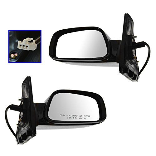 Gloss Black Power Side Mirrors Left LH & Right RH Pair Set for 03-08 Corolla