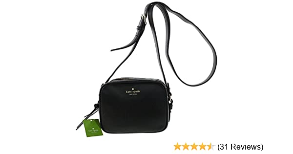 889df2e3f6 Amazon.com  Kate Spade New York Mulberry Street Pyper Pebbled Leather  Crossbody Shoulder Bag (Black)  Shoes