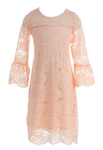 Bow Dream Vintage Lace Party Dress Princess Flower Girl's Dress