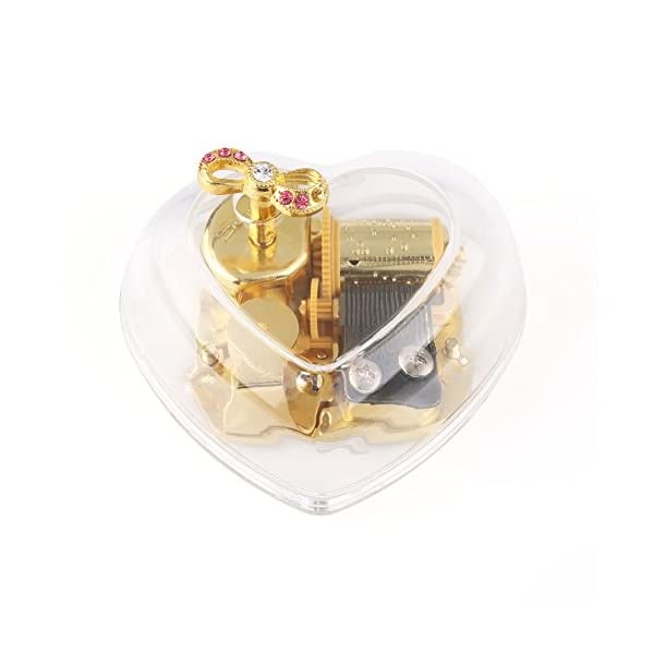Anddas Transparent Wind Up Music Box for Girls You Are My Sunshine