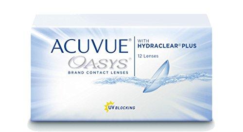 Acuvue Oasys 2-Wochenlinsen weich, 12 Stück / BC 8.4 mm / DIA 14.0 / -3.25 Dioptrien