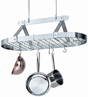 product image for Enclume 3-Foot Oval with Grid Premier Ceiling Rack, Chrome