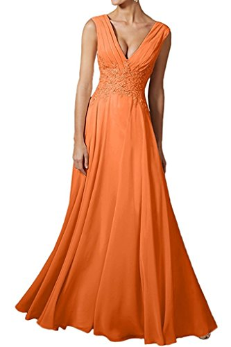 para trapecio Vestido Topkleider naranja mujer F8qnp