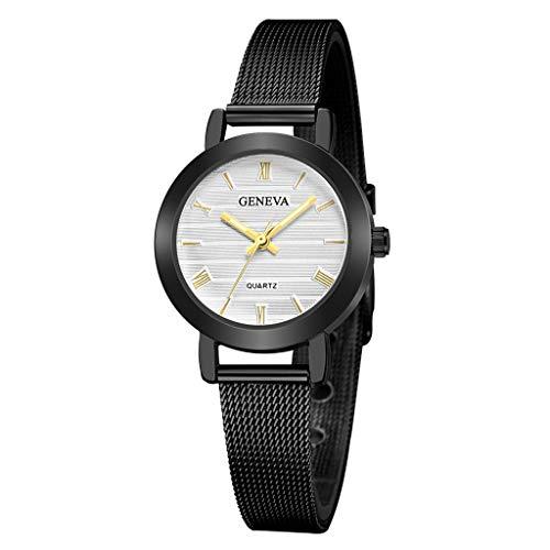 (Great Beautiful Fashion Geneva Ladies Women Girl Unisex Stainless Steel Quartz Wrist Watches C)