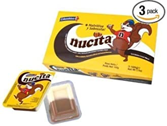 Nucita Colombina - Nutty 12 units (3 Pack)