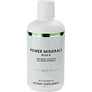 Colloidal Minerals – Power Minerals Plus K – 32 Fl Oz – Nutrients for Health by WT Rawleigh