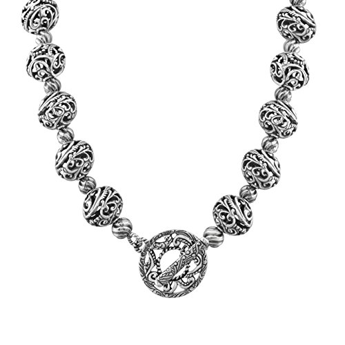 Carolyn Pollack Signature Sterling Silver Bead Toggle Necklace, 16