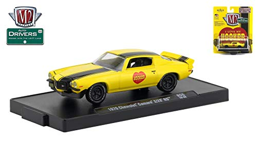 M2 Machines 1970 Chevrolet Camaro Z-28 RS (Hooker) Auto-Drivers Release 55 - Castline 2019 Special Edition 1:64 Scale Die-Cast Vehicle & Custom Display Base (R55 18-32) ()