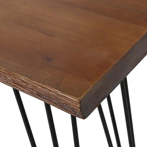 Aneissa Industrial Faux Live Edge Rectangular Bar Table, Natural by Christopher Knight Home (Image #7)