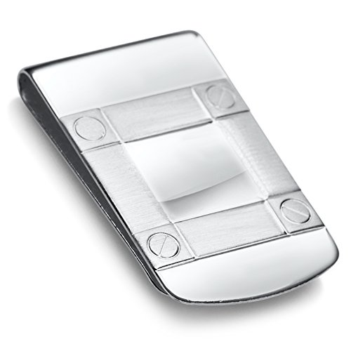 Sterling Silver .925 Wide Solid Design Engravable Money Clip, Designed and Made In Italy. By Sterling Manufacturers by Sterling Manufacturers