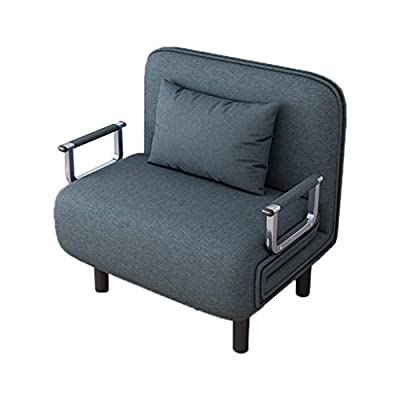Quelife Folding Sleeper Chair,Single Sleeper Convertible Chair Lounger Couch Bed-Blue