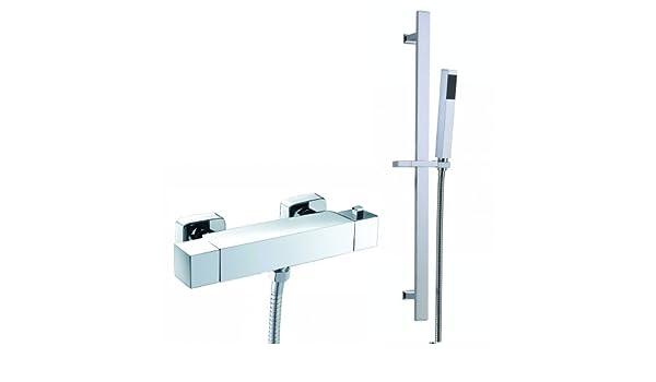 Barra de ducha válvula termostática con alcachofa + barra SV1000: iBathUK: Amazon.es: Bricolaje y herramientas