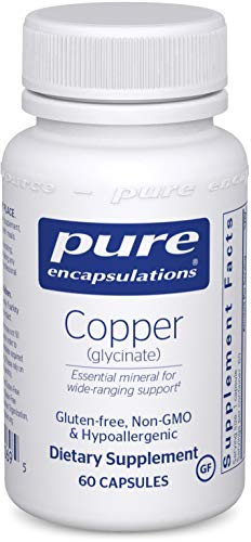 Pure Encapsulations – Copper (Glycinate) – Hypoallergenic Essential Mineral Supplement – 60 Capsules Review