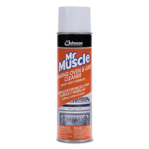 Mr. Muscle Oven/Grill Cleaner, Solvent Scent, 20 oz, Can, 6/Carton ()