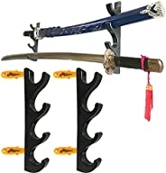 Pmsanzay Four-Layer Wall-Mounted Sword Stand Display Stand, Sword Stand, Sword Holder, Sword Stand, Sword Hook