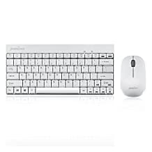 Perixx PERIDUO-712, Wireless Mini Keyboard and Mouse Combo - 2.4 G - White