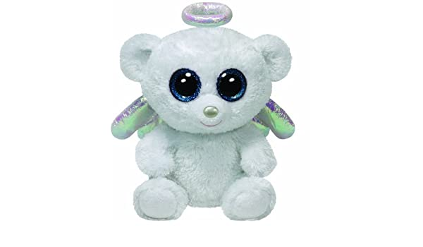 56dd3a14ef6 Amazon.com  Ty Beanie Boos Halo - Angel Bear  Toys   Games
