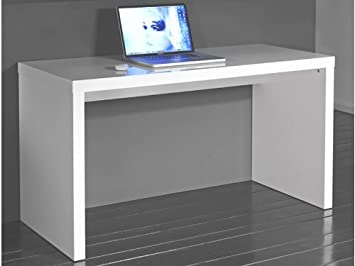 Pc bureau console cm blanc laqué brillant amazon
