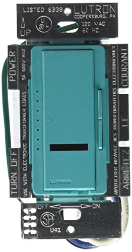 600w Multi Location Dimmer - Lutron Lutron MIRELV-600M-TQ Maestro IR 600-Watt Multi-Location Electronic Low-Voltage Dimmer, Turquoise