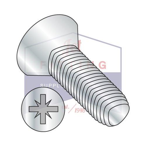 M2.5-0.45 x 8 mm Taptite Style Thread Forming Screws / Pozi / Flat Head / Steel / Zinc / DIN7500M (QUANTITY: 1,500 pcs)