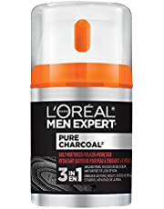 L'Oreal Paris Men Expert Face Moistruizer for Acne Prone Skin with Salicylic Acid and Volcanic Minerals, Pure Charcoal,