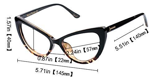 Eyeglasses Leopard Womens Large Frame Oversized Reading Glasses ...