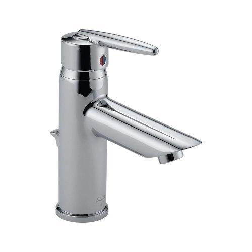 Delta 585LF-MPU Grail Single Handle Centerset Bathroom Faucet, Chrome