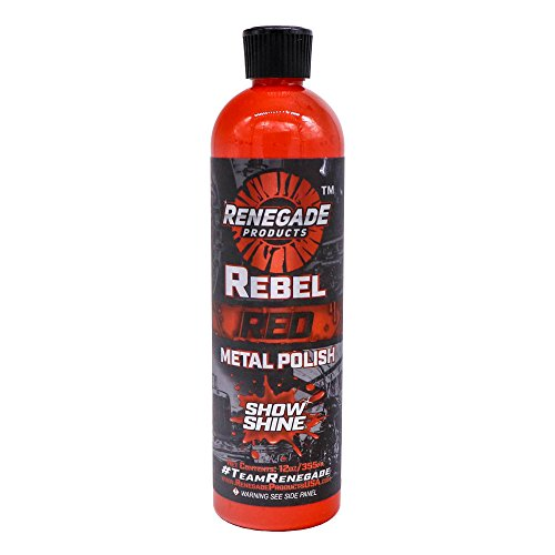 Renegade Rebel Red Liquid Metal Polish Products for high Polish on Aluminum, Stainless & Chrome ()
