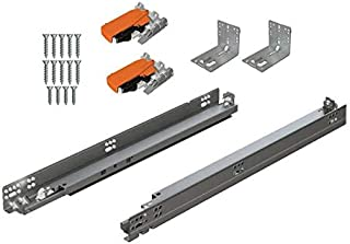 product image for BLUM Tandem Plus BLUMOTION Drawer Slides Complete Pair, with Runners 563H, Locking Devices, Rear Mounting Brackets and Screws (for face Frame or Frameless Application) 21 Inch