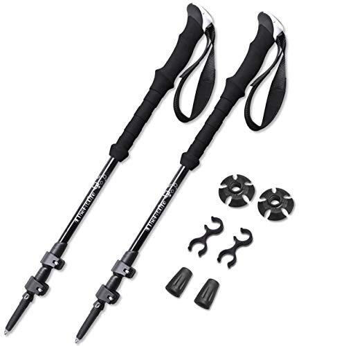 TheFitLife Nordic Walking Trekking Poles – 100% Carbon Fiber Collapsible and Telescopic Hiking Poles