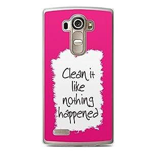 Clean it LG G4 Transparent Edge Case