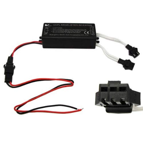 iJDMTOY Replacement Dual-Connector CCFL Inverters for BMW Mazda Lexus Infiniti CCFL Halo Angel Eyes Kit