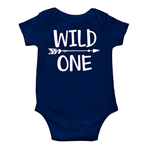 Wild One Baby Boys 1st Birthday Outfit Smash Cake Outfit Wild One First Birthday Bodysuit for Boys ()