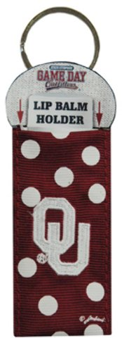 Game Day Outfitters 1936953 University of Oklahoma - Keychain Lip Balm Holder - Case of 144 by Game Day Outfitters