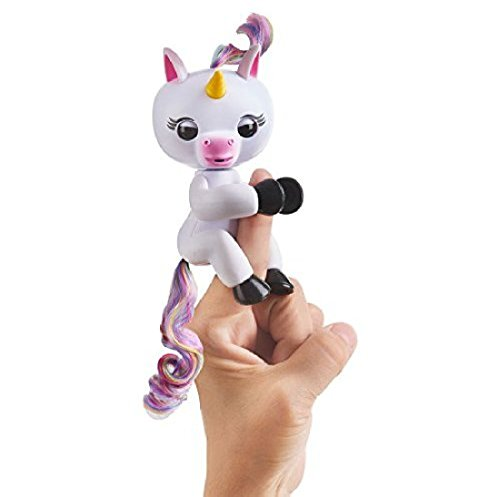 WowWee Fingerlings Interactive Baby Unicorn Puppet, Grigio (White)