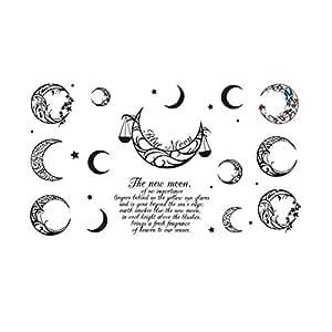 WINDO Waterproof fashion moon temporary tattoo stickers LQDD039