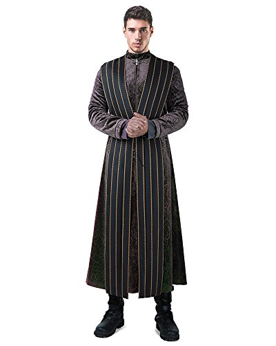 miccostumes Men's Littlefinger Petyr Baelish Cosplay Costume Halloween Outfit (L) Black -