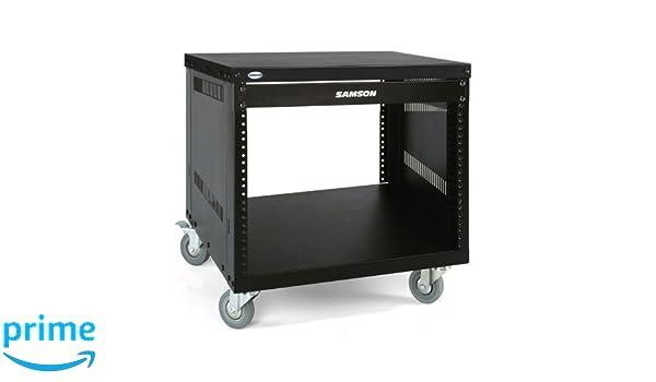 Samson SRK8 - Rack metálico abierto de 8 unidades con ruedas: Amazon.es: Instrumentos musicales